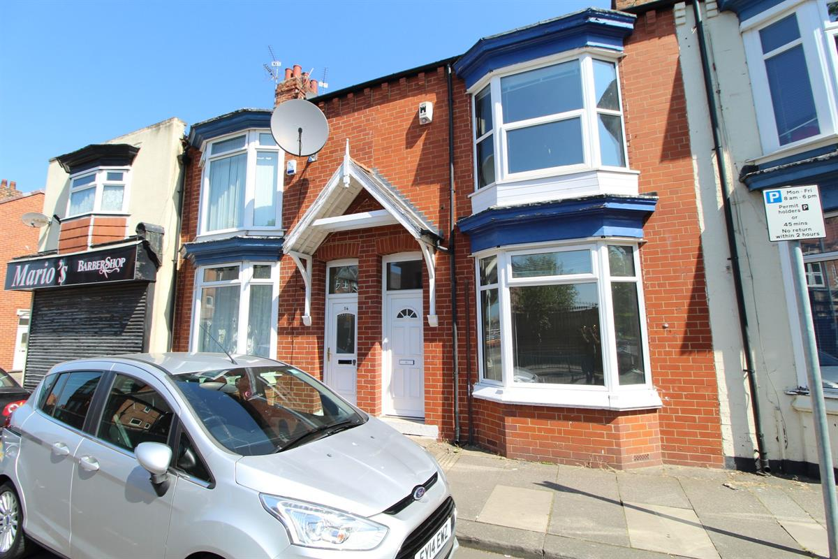 4 bed Terraced House For Rent in Middlesbrough, North Yorkshire - 1